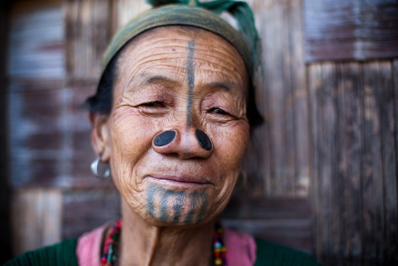 Apatani tribe tattoo