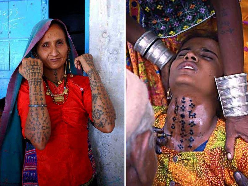 Rabari tattoos