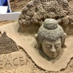 Sand Art: Sudarsan Pattnaik's Lord Buddha sculpture at World Travel Market