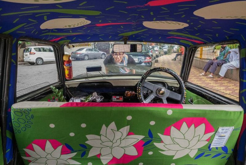 Martin-in-Taxi-Fabric-project's-cab