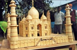French prisioner matchsticks Taj Mahal-2