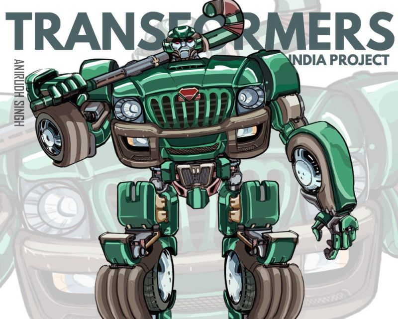 An artist envisions everyday Indian vehicles as kickass Transformers