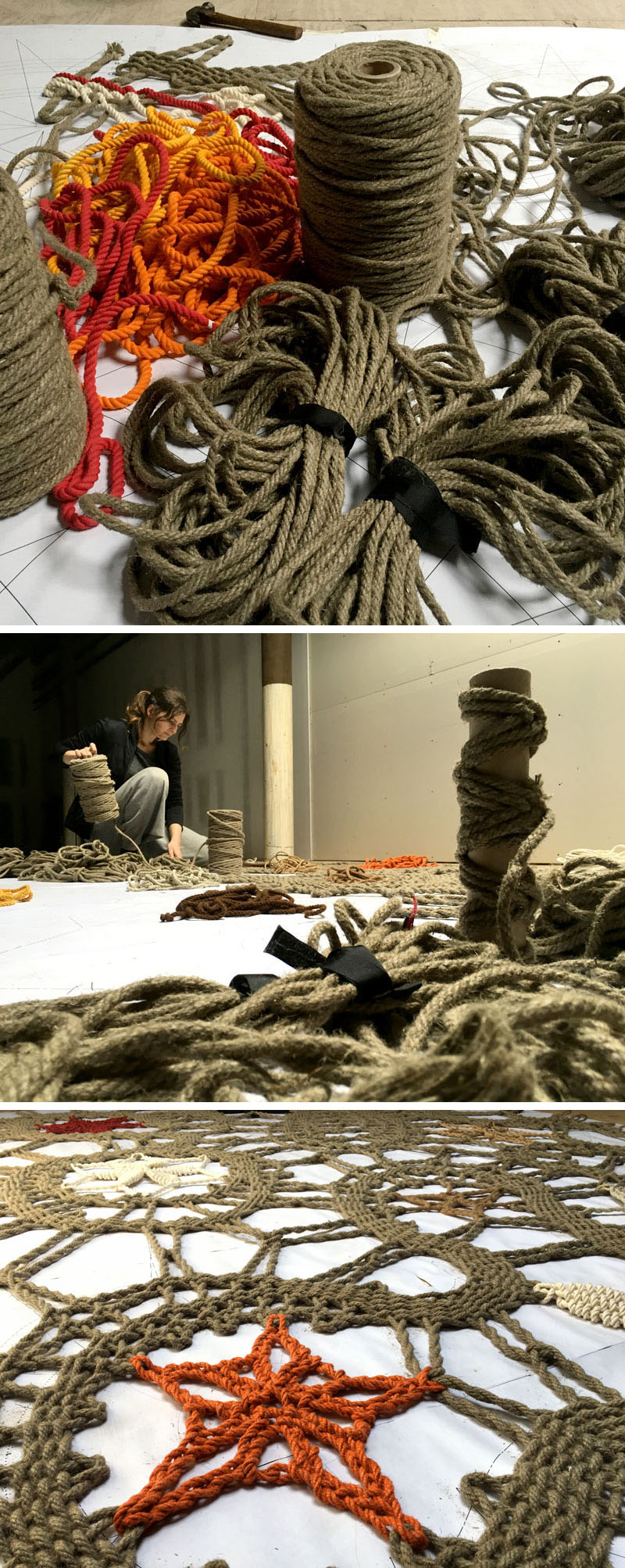 Rope lace artwork Etsy office-3