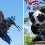 Sustainable Art: Incredible animal sculptures made from old CDs