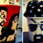 23-year-old artist turns leftover paper cups into art