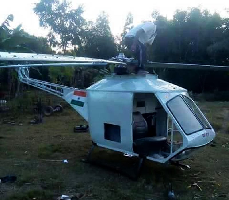 A school dropout from Assam builds 'helicopter' using local technology