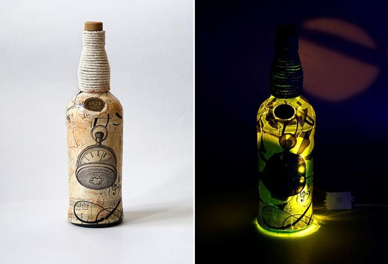 Bottle Art: Husband-wife duo recycles old bottles into decor pieces