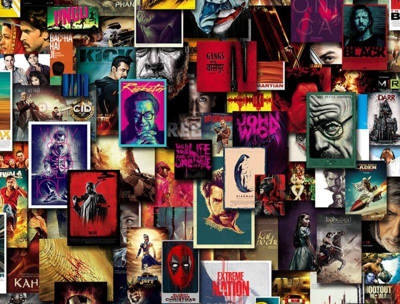 Mumbai's digital artist turns famous movie posters into vibrant wall art