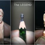 Sachin Sanghe's micro-sculptures on pieces of chalk and pencil lead