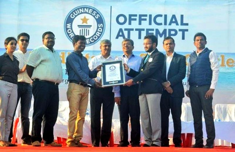 Sudarsan Pattnaik sets Guinness World Record for tallest sand castle-3