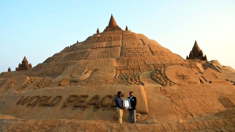 Sudarsan Pattnaik sets Guinness World Record for tallest sand castle