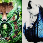 Thought-provoking wildlife paintings remind us of endangered nature