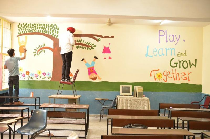 Rotaract Club is giving artistic makeover to schools in Chandigarh