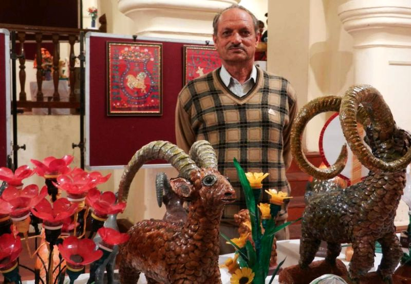Recycled Art: Shimla-based artist creates animal figurines out of trash