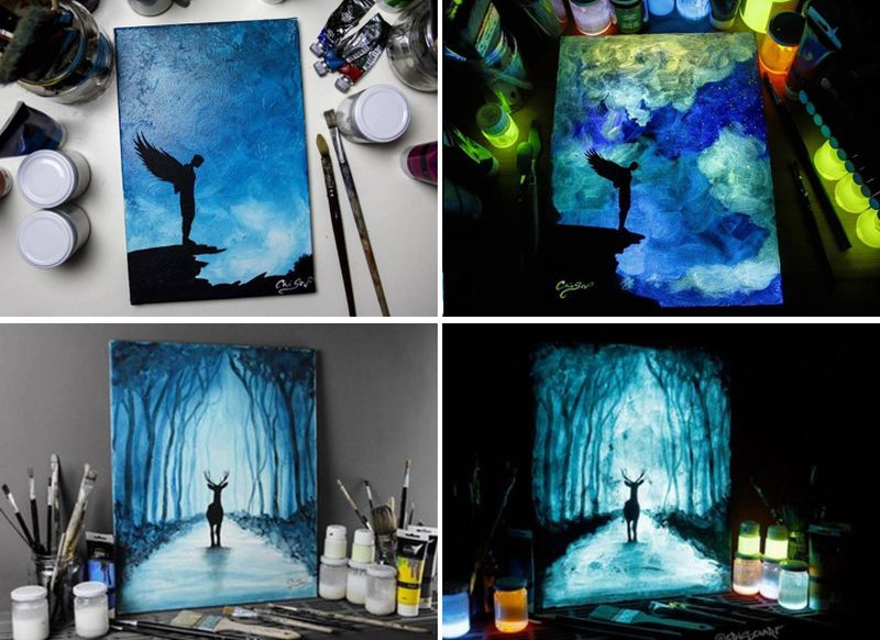 Crisco-Art-Glow-in-the-Dark-Painting-1