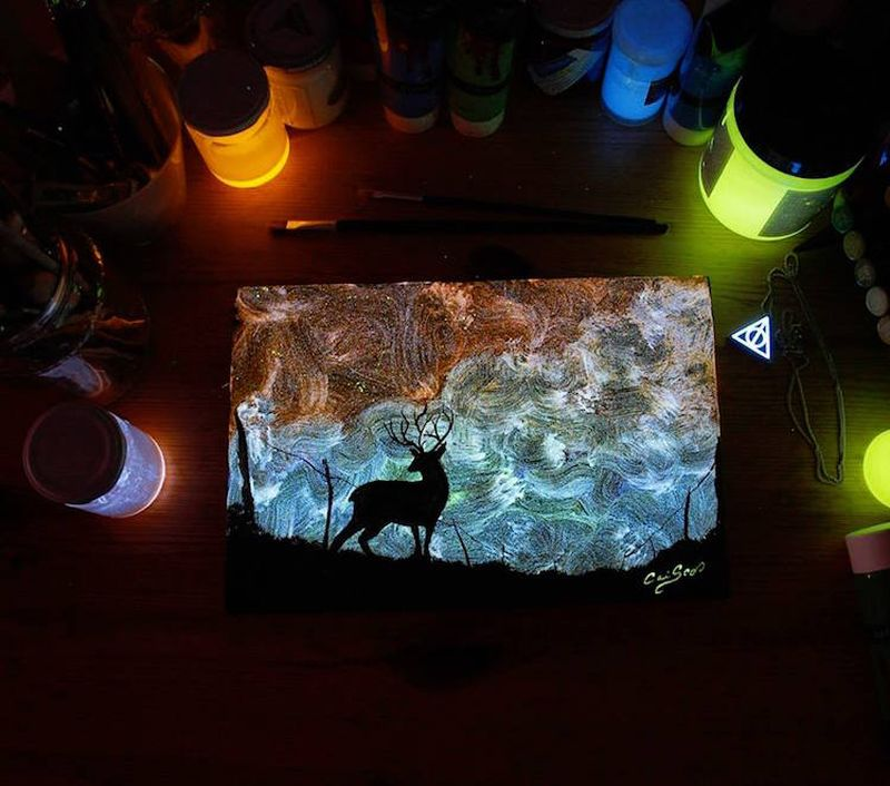 Crisco-Art-Glow-in-the-Dark-Painting-13