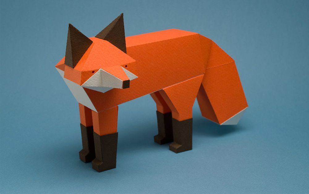 Paper-made animal and bird sculptures with a geometric twist