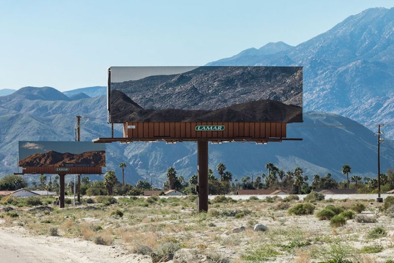 Artist replaces ads on billboards with photos of landscapes they blocked
