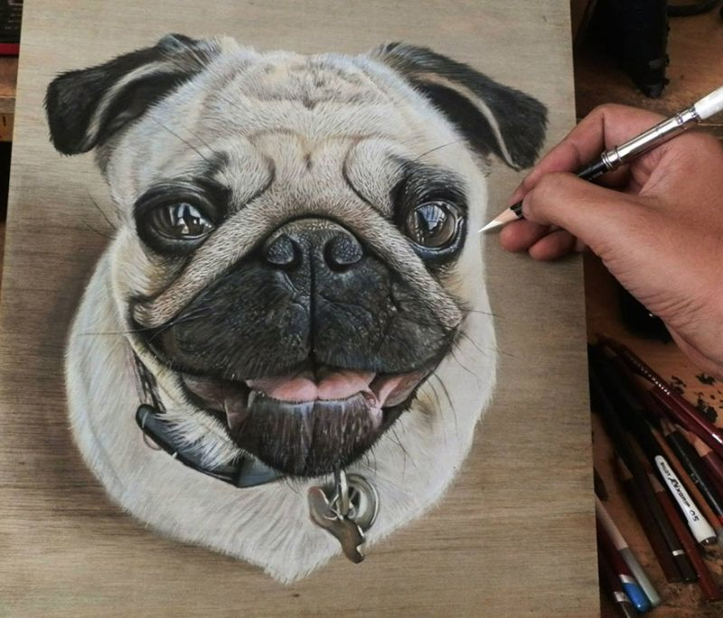 Unbelievably realistic paintings popping off the wooden boards