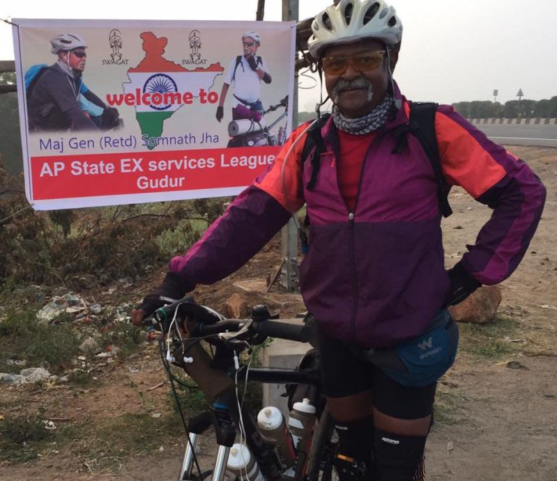 Retired Army General cycles 29 states to honour 21,000 fallen soldiers-1