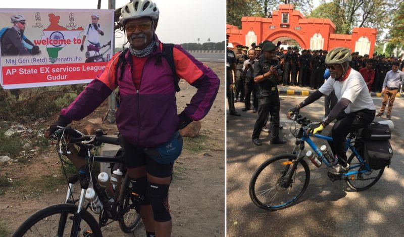 Retired Army General cycles 29 states to honour 21,000 fallen soldiers