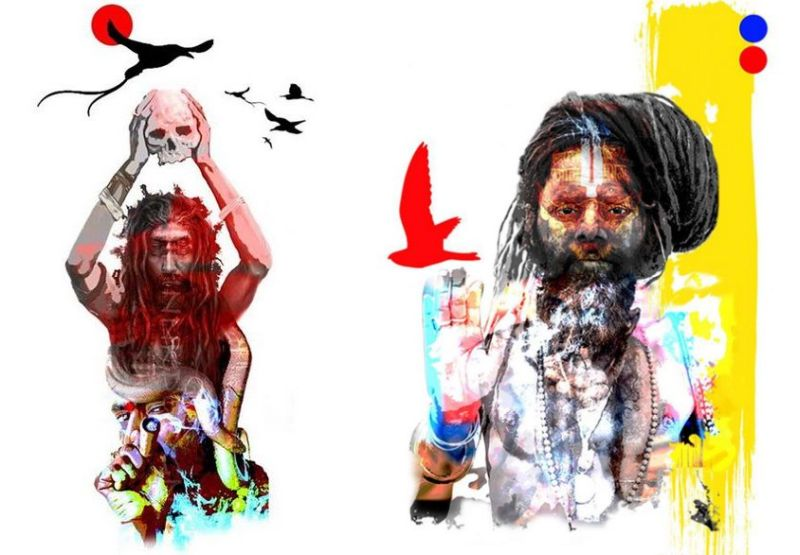 Phenomenal Aghori-inspired artworks by ThinnkDesign Studio