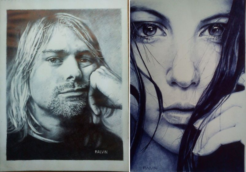 Astounding photorealistic portraits drawn with ballpoint pens