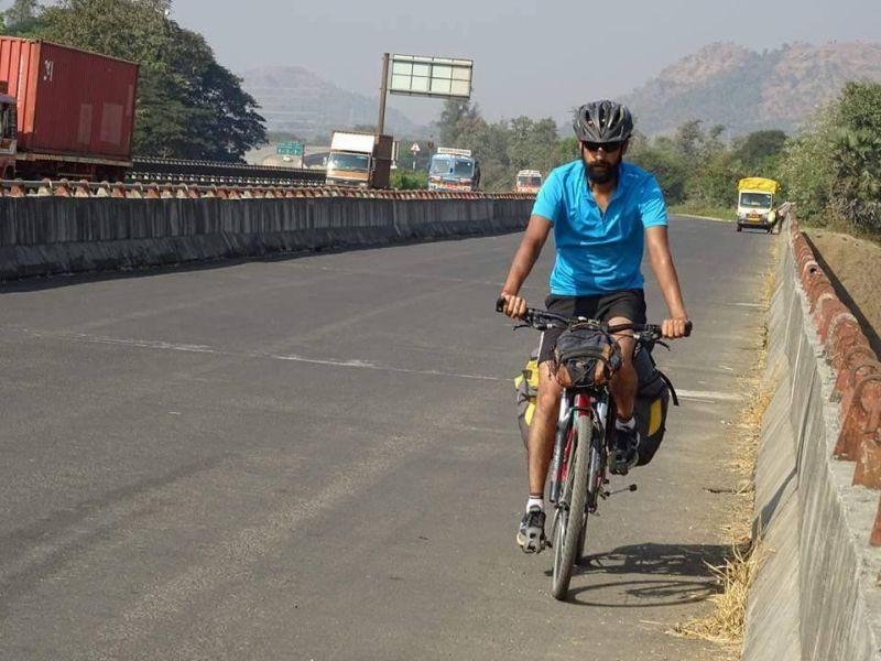 Uday Shankar cycled from Mandi to Madurai-1