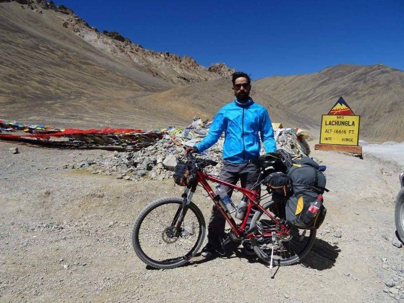 Uday Shankar cycled from Mandi to Madurai-2
