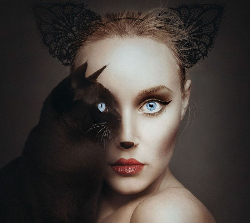 Photographer shares an eye with various animals for surreal portraits