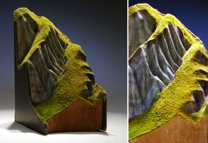 You won't believe these sprawling mountains are made from old books