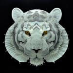 Intricate animal papercuts raise awareness for endangered species