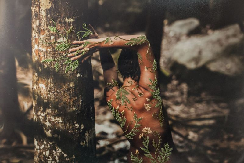 Aline Brant Embroidered Photographs