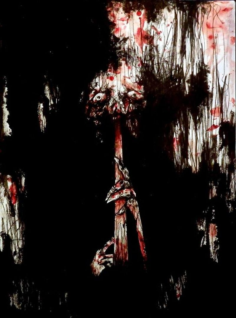 Blood Paintings by Maxime Taccardi-3