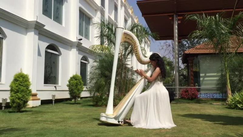 Meagan Pandian India's first Harp player