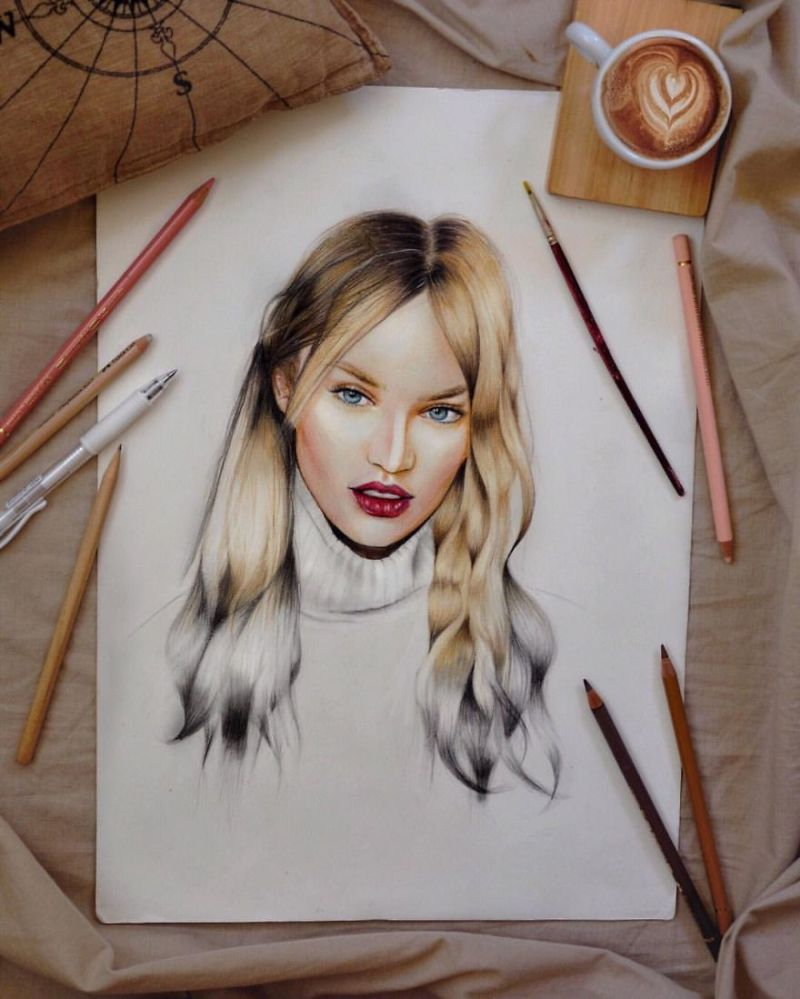Realistic portraits by George Diamantis