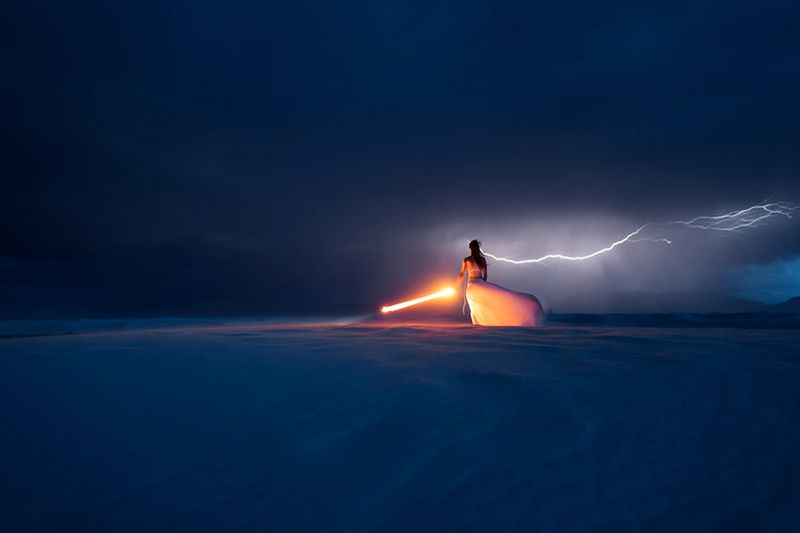 Light Painting: Duo captures dreamy photographs as lighting strikes