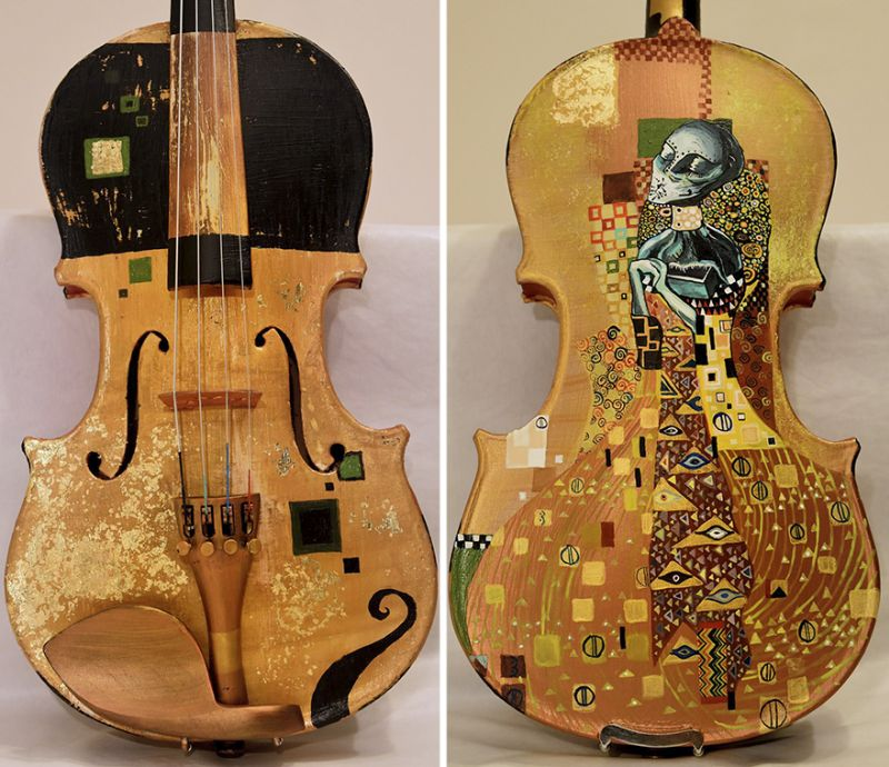 Painted instruments boasting famous works of Dali and other great artists