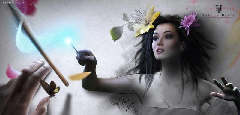 digital paintings by Tullius Heuer