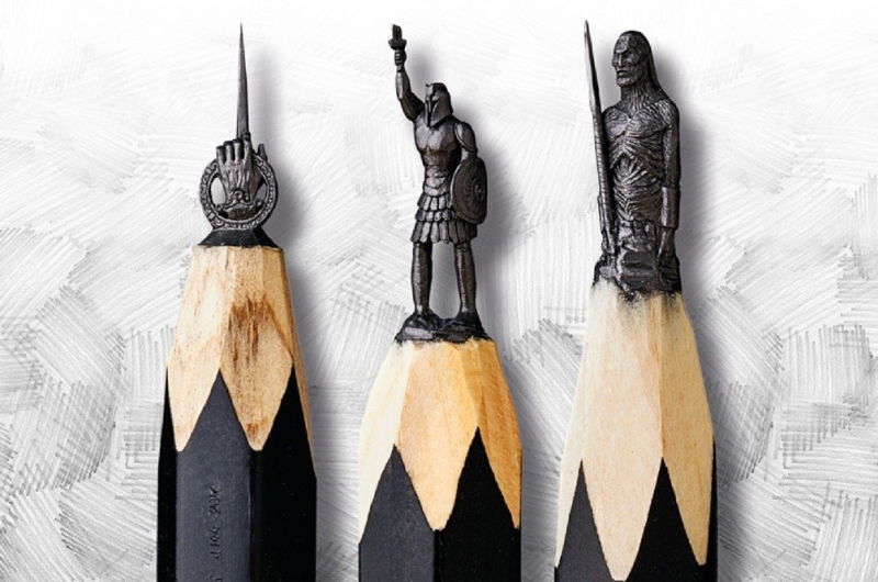 Artist carves Games of Thrones-inspired sculptures on pencil tips