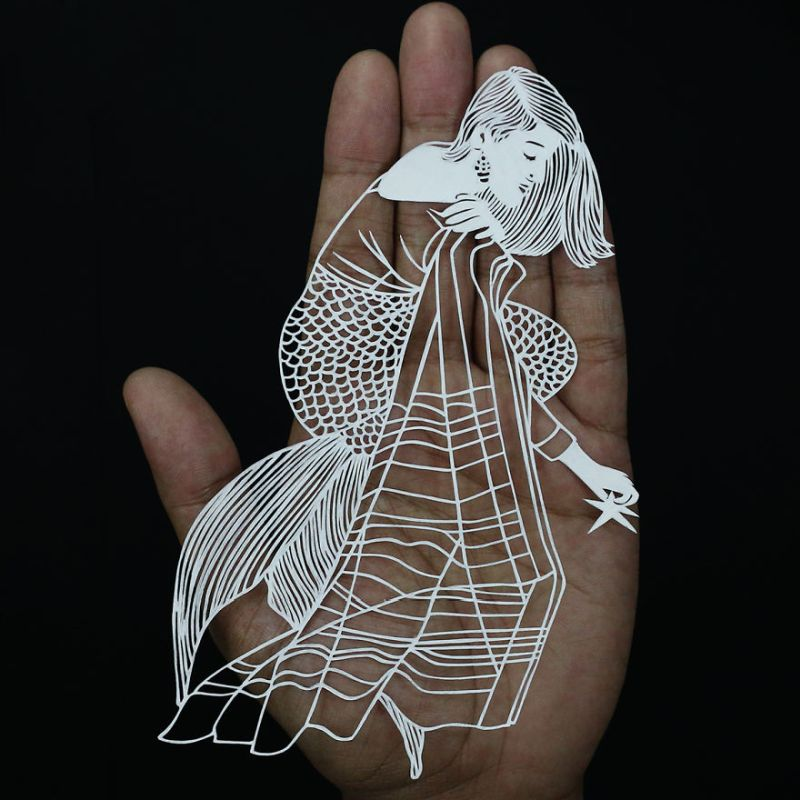 Indian Women Papercut by Parth Kothekar