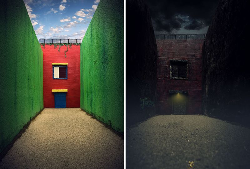 Vatsal Kataria photographs the same scene in two different perspectives