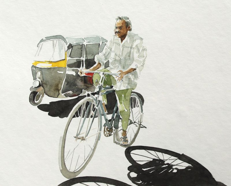 Bihar-born, Berlin-based artist illustrates bicycle stories from India