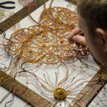 Husband-wife duo creates unique filigree metal art by bending steel wires