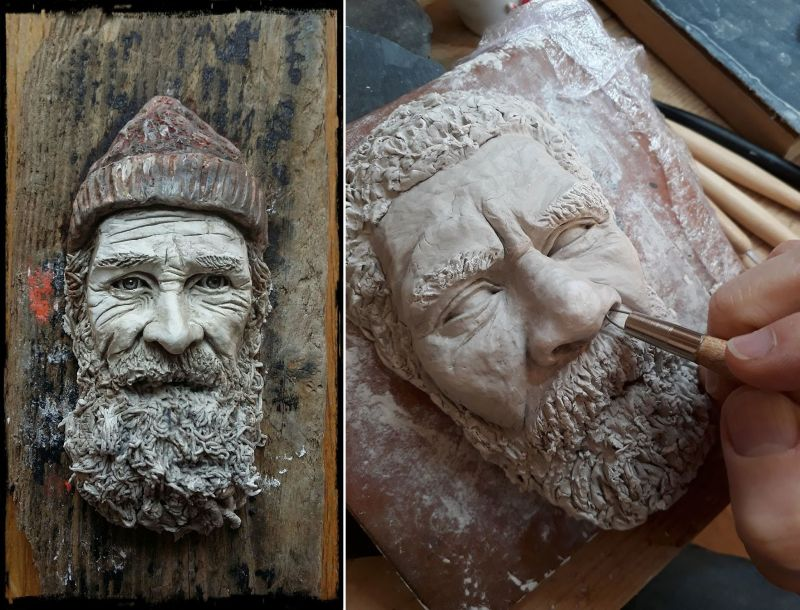 Forgotten Faces – Irish artist captures local fishermen & characters in clay