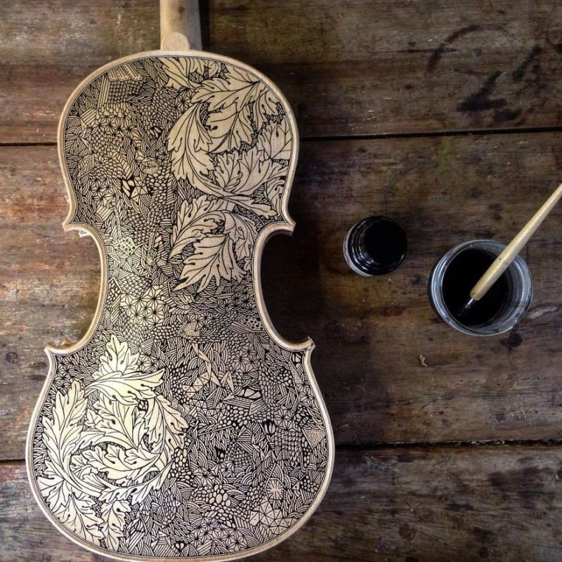 Leonardo Frigo violin painter