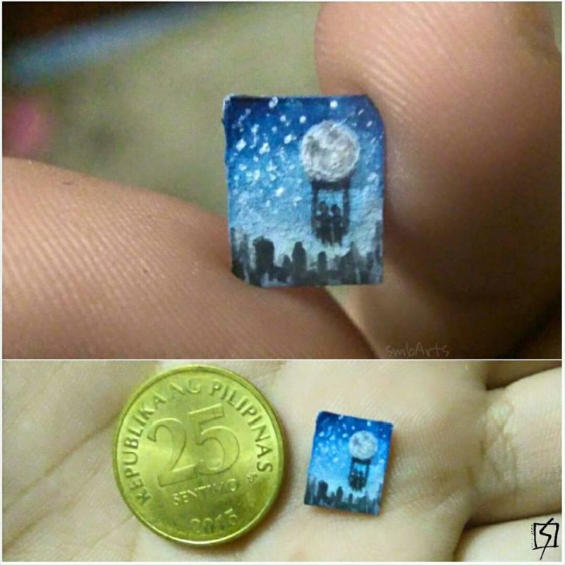 Micro-paintings on rice grains by Sheila Mae Bernaldez