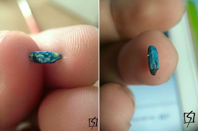 Micro-art: Detailed paintings on rice grains and tiny pieces of paper!