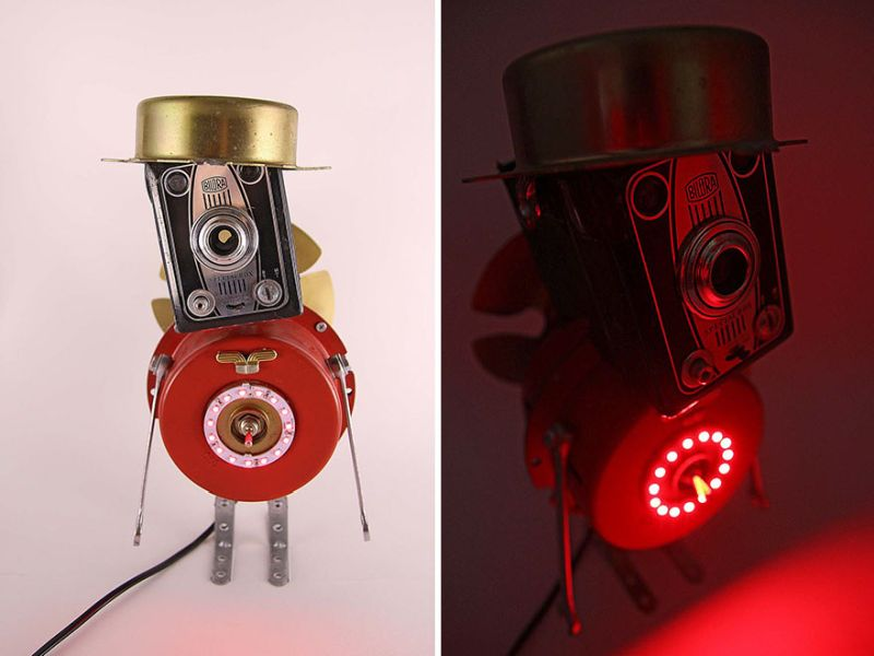 robot lamp by Captain Heartless