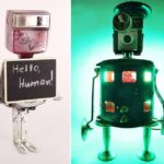 Junk to Art: Captain Heartless turns old motor rots into robotic lamps